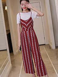 Manches Ajustées Robes Costumes Femme,Géométrique Motif Sexy Quotidien Décontracté Cérémonie Rétro Doux Mode Eté Printemps Manches Courtes
