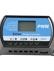 30a 12v / 24v solar, controlador do carregador de bateria do painel regulador usb lcd PWM