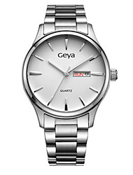 Couple's Fashion Watch Quartz Calendar Water Resistant / Water Proof Alloy Band Silver