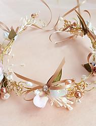 Basketwork Pearl Headpiece-Wedding Birthday Party/ Evening Flowers 1 Piece
