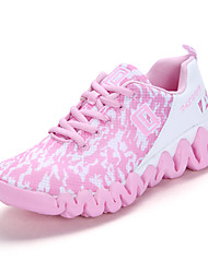 Women's Athletic Shoes Comfort Breathable Mesh Fall Winter Athletic Casual Outdoor Tennis Comfort Lace-up Flat HeelBlushing Pink Blue