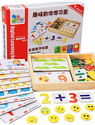 Educational Flash Cards Square Wooden 3-6 years old