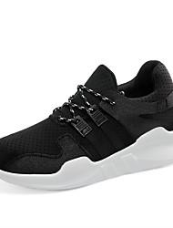 Femme Chaussures d'Athlétisme Confort Tulle Printemps Automne Décontracté Marche Lacet Creepers Blanc Noir Rose 7,5 à 9,5 cm