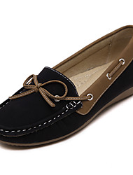 Women's Boat Shoes Comfort PU Spring Casual Black Camel Under 1in