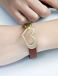 Femme Chaînes & Bracelets Charmes pour Bracelets Bracelets en cuir Mode Vintage Turc Alliage de fer Cuir Bijoux PourRendez-vous Vacances