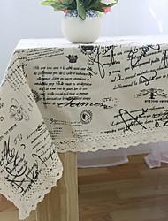 European Letter Design Cotton And Linen Table Cloth 60*60cm