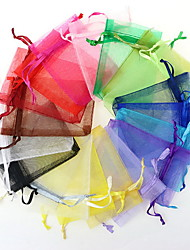 10Pcs   Drawable  Small Organza Bags Gift Bag Jewelry Packaging Bags  Random Color