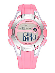 Kid's Sport Watch Digital Watch Digital Water Resistant / Water Proof Rubber Band Black Blue Pink