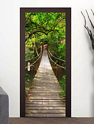 Arquitectura Pegatinas de pared Calcomanías 3D para Pared 3D Material Decoración hogareña Vinilos decorativos