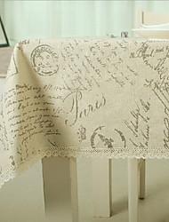 Прочее С принтом Скатерти , Смешанная хлопковая ткань материал 1