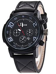 Disu Men's Sport Watch Military Watch Fashion Wristwatch Unique Creative Casual Watches Quartz Leather Calendar Hodinky Hours Relogio Masculino