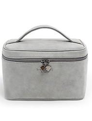 Women Cosmetic Bag Nylon All Seasons Casual Square Zipper Gray