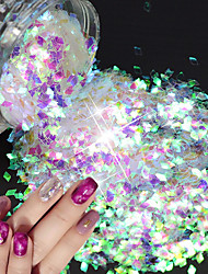 1g/Bottle Fashion Luxury Rhombus Sparkling Sequins 3D Glitter Decoration Nail Salon DIY Beauty Accessories Shining Thin Slice LQ