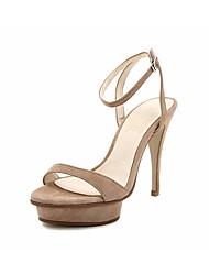 Damen High Heels Pumps Leder Sommer Kleid Pumps Stöckelabsatz Schwarz Hautfarben 10 - 12 cm