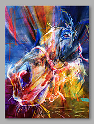 IARTS® Oil Painting Modern Bright Colorful Running Horse Portrait Abstract Art Acrylic Canvas Wall Art For Home Decoration
