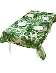 Waterproof Pastoral Green Polyester Tablecloth Tablecloth Living Room Square Coffee Table Restaurant Garment Cloth