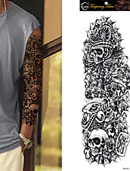 1Pc Temporary Tattoo Sleeve Designs Full Arm Waterproof Tattoos For Cool Men Women Transferable Tattoos Stickers On The Body Art