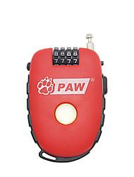 Paw abc plastique quatre mot de passe numérique portable vélo anti-vol verrouillage voiture câble coffre verrouillage multifonction