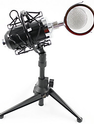 BM8000 Condenser Microphone Cardioid Pro Audio Studio Vocal Recording Mic with  Metal Shock Mount  Desktop Stand
