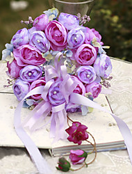 YUXIYING Camellia Door Wreath Christmas Decorations Home Wedding 20cm Diameter Little Garlands Purple