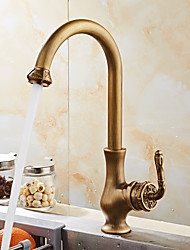 Antique Bronze Finish Kitchen Faucets Bathroom Tap Mixer Single Handle Hot And Cold Wash Basin Tap