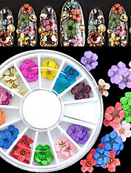 36PCS Natural Dried Flower Nail Art Decoration