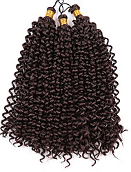 3Packs/Lot Curly Crochet Hair Extensions 14inch Kanekalon Synthetic Braiding Hair Bulk 3Packs/Lot