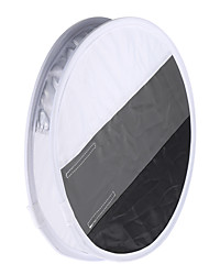 Multifunctional 12in/31cm Mini Portable Round On-camera Flash Speedlite Diffuser Softbox with White Grey Black Color