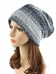 Women's Cotton Beanie Floppy Hat Headwear Cute Casual Chic & Modern Casual/Daily Knitwear Striped Fall Winter Cap Navy Blue/Brown