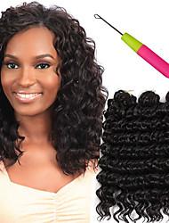 afro deep wave twist hair 3pc/pack kanekalon crochet braids 10inch bohemian style hair Synthetic Braiding Hair Savana 3x bulk hair peices