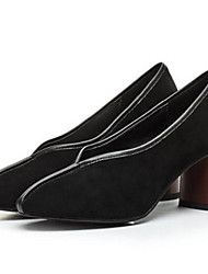 Damen High Heels Pumps Echtes Leder Herbst Winter Normal Pumps Schwarz Mandelfarben Unter 2,5 cm