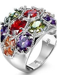 Ring Settings Ring  Luxury Elegant Noble Zircon Geometric Multicolor  Women's  Rhinestone Euramerican Fashion Party Wedding Movie Gift Jewelry