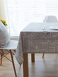 American Village Creative English Letters Newspaper Cotton And Linen Table Cloths 40*60cm