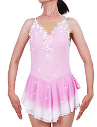Robe de Patinage Femme Fille Sans Manches Patinage sur glace Patinage Roller Jupes & Robes Robes Haute élasticitéRobe de patinage