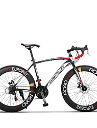 21 Speeds Road Bicicleta 700cc Road Bike70mm Width Rim Shimano Drivetrain Bend Handlebar 4 Colors