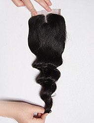 8-20Inch Braizlian Loose Wave Closure Best Virgin Brazilian Lace Closure Bleached Knots Closures Middle Closure