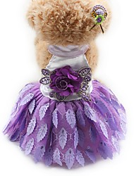 Cat Dog Tuxedo Dress Dog Clothes Party Casual/Daily Wedding Princess Ruby Purple Black