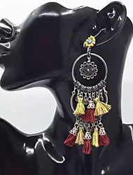Women's Drop EarringsBasic Circular Unique Design Dangling Style Tassel Geometric Friendship Multi-ways Wear Cute Style Euramerican