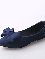 Women's Flats Comfort Light Soles Spring Summer PU Casual Dress Flat Heel Black Ruby Blue Under 1in