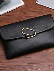 Women Clutch Cowhide All Seasons Casual Outdoor Rectangle Clasp Lock Red Black Green