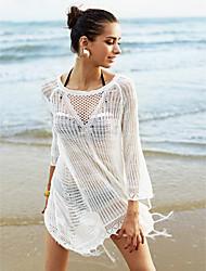 Femme Franges Robes Légères Aux s Franges Polyester