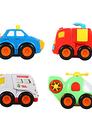 Toys Plastics Ambulance vehicle Model 4Pcs