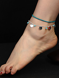 Women's Anklet Acrylic Bead Alloy Fashion Bohemian Jewelry For Daily 1pc