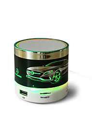 302V Wireless Card Bluetooth Audio Car LOGO Luminous Lantern Speaker Phone Subwoofer Support TF / USB Card