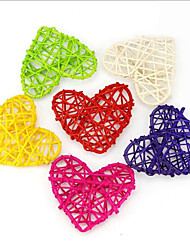 10 Piece/ Set 10CM  Heart Sepak Takraw For Christmas Birthday Party & Home Wedding Party Decoration Rattan Ball