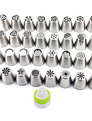 1Lot (32pcs) DIY Patterns Stainless Steel Icing Piping Nozzles Dessert Decorators Russian Pastry Tips Fondant Cup Cake Baking Tool