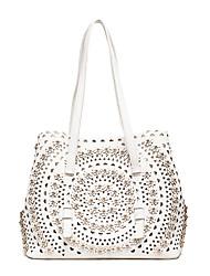 Damen Bag Sets PU Ganzjährig Normal Baguette Bag Reißverschluss Weiß Schwarz Rosa