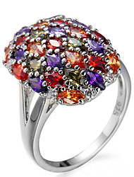 Ring Settings Ring Luxury Elegant Noble Zircon Oval Multicolor  Women's  Rhinestone Euramerican Fashion  Party Movie Gift Jewelry