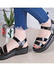 Mujer Sandalias Confort PU Verano Casual Dorado Negro Plateado 5 - 7 cms