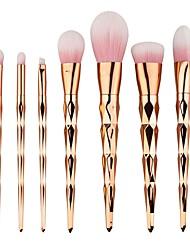 7pcs Makeup Brush Set Eyeshadow Brush Foundation Brush Nylon Matte Cute Full Coverage Aluminum Wood Face Eye